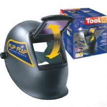 Hinged welding helmet